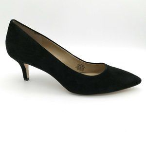GILI Loriana Suede Pumps Black Kitten Heels 9.5